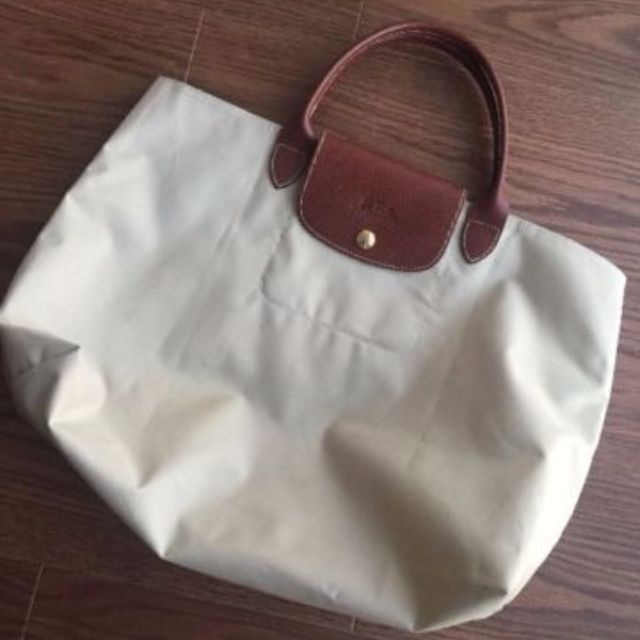*Reserved* Authentic Longchamp Les Pliages Cabas Open Tote bag (M) Beige