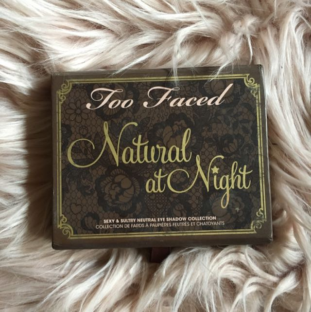 Authentic Too Faced Natural At Night Eyeshadow Palette