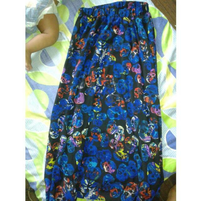 Bangkok Long Skull Skirt