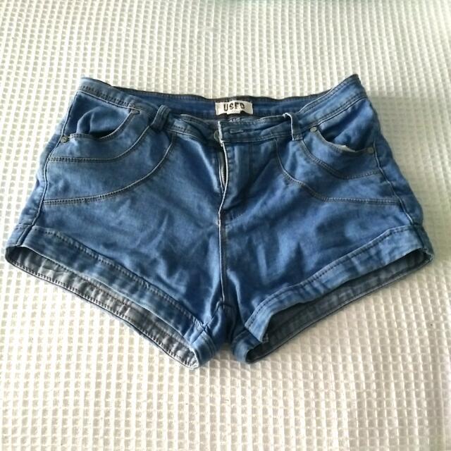 Blue Denim Shorts Size 10
