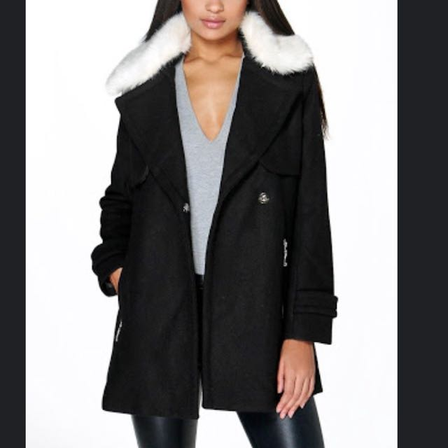 Boohoo Black Coat S