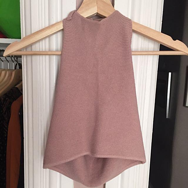 Brandy Melville Alyssa Halter Top Knitted