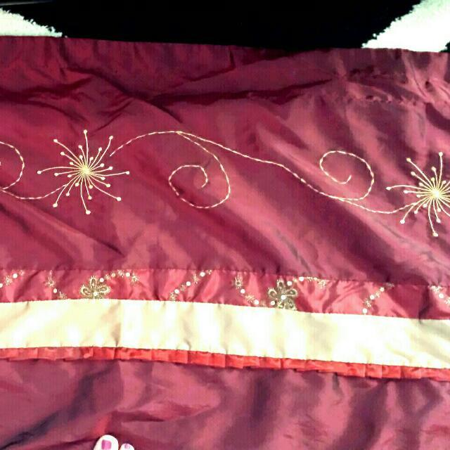 Burgundy / Red Pocket Rod Curtain Panel