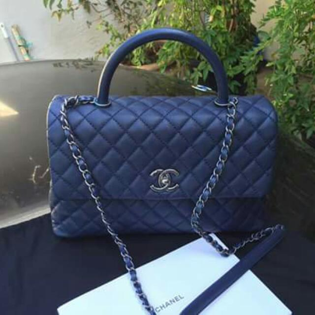 Chanel Coco Medium Dark Blue