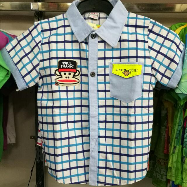 Chekered Polo For Kids