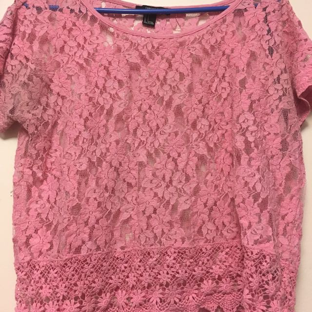 Forever21 Pink Lace Top