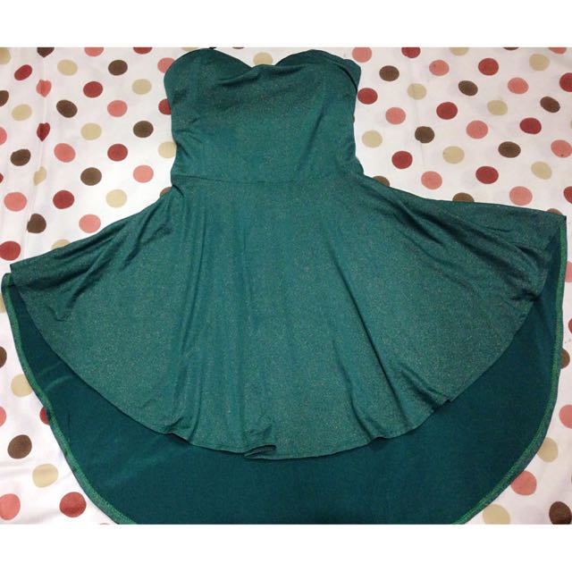 Dress Peplum Green