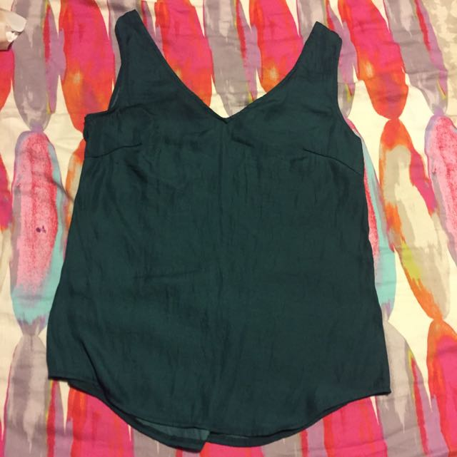 Forecast Emerald Green Silky Singlet Size 6