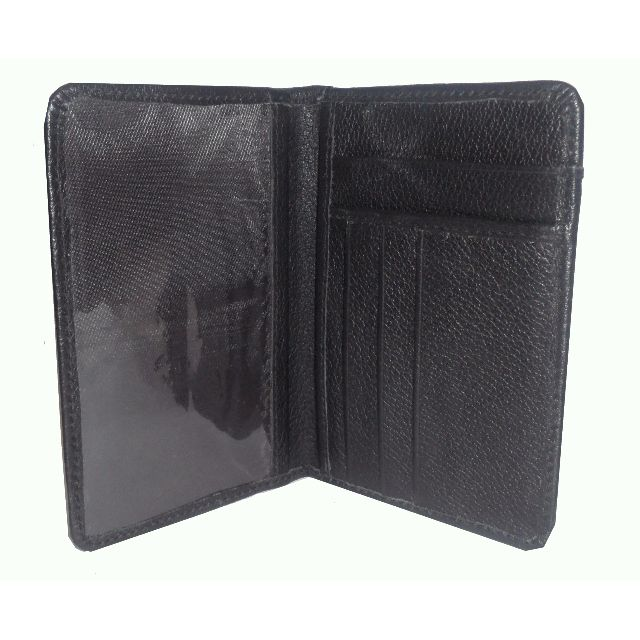 Genuine Real Leather Passport Cover Holder Quality Business Travel Wallet Case Black