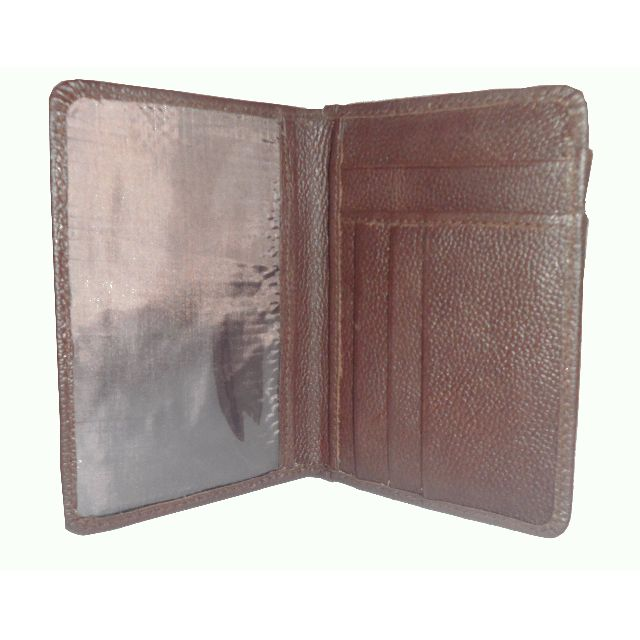 Genuine Real Leather Passport Cover Holder Quality Business Travel Wallet Case Brown