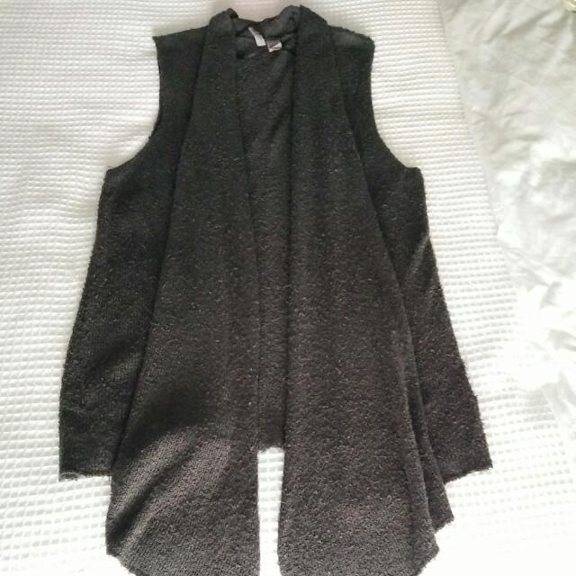 Grey Sleeveless Vest