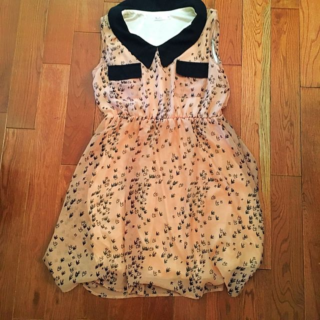 Katie Bird Dress With Collar (m)