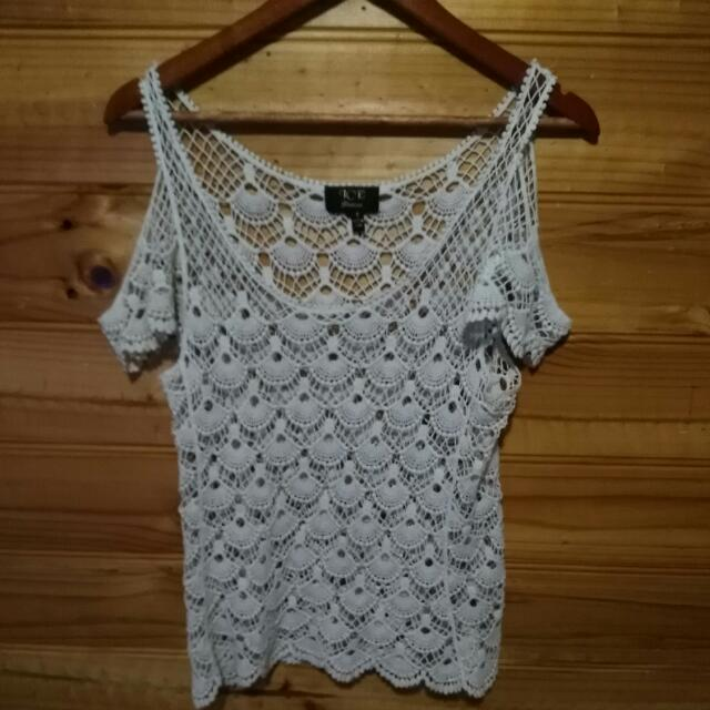 Lacy Top With Open Shoulder