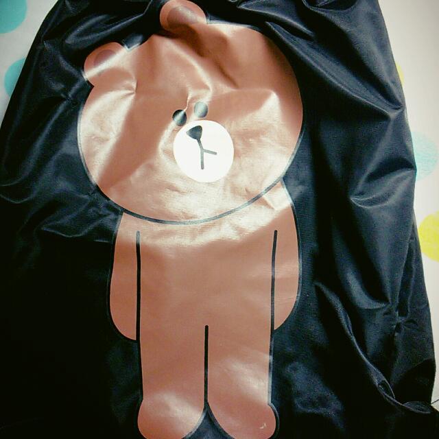 正品Line熊大束口袋
