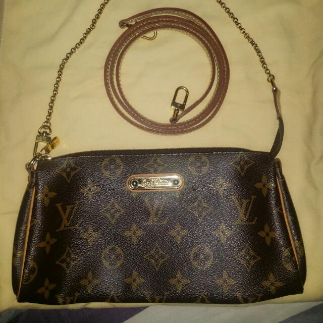 Lv Eva Clutch (Authentic)