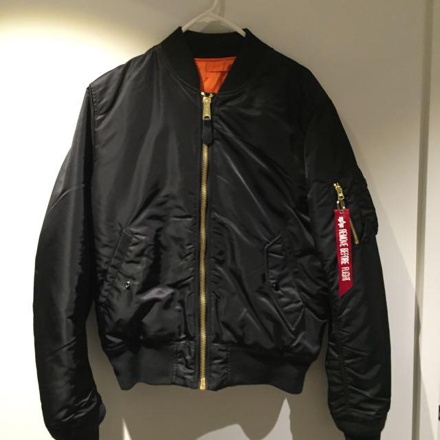 MA - 1 Slim Fit Bomber Jacket Size L