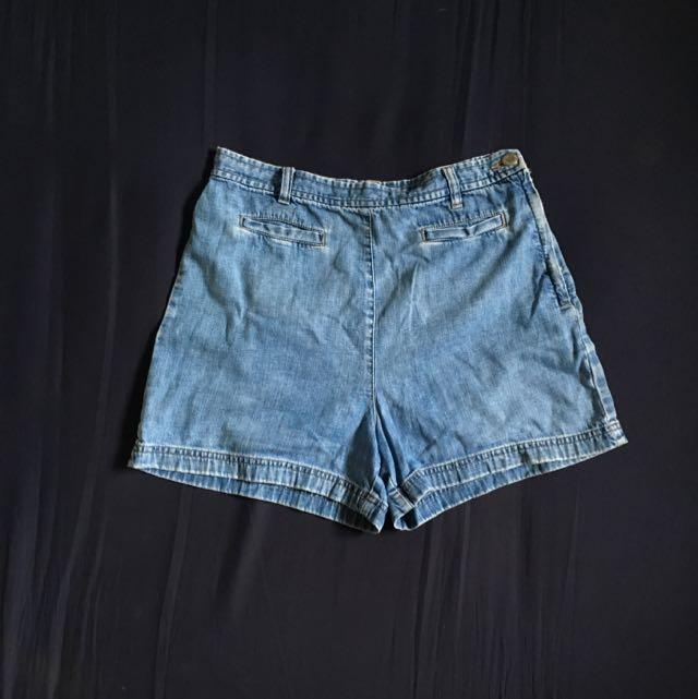 Maong High Waist Shorts