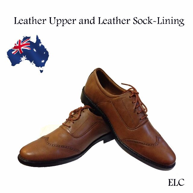Men's Handmade Genuine Leather Dress office Casual Formal Oxford Toe Lace Shoes Size 8 and 9
