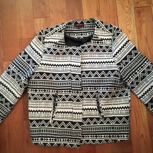 Nameless, Vintage, Aztec Patterned Jacket (m)