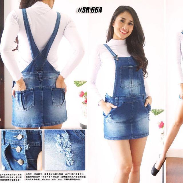 Overall Jeans mini Skirt