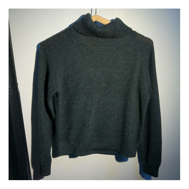 *SALE* PRINCESS HIGHWAY: Dark Grey Cropped Turtleneck Knit (Size 8) *purchased from Dangerfield*
