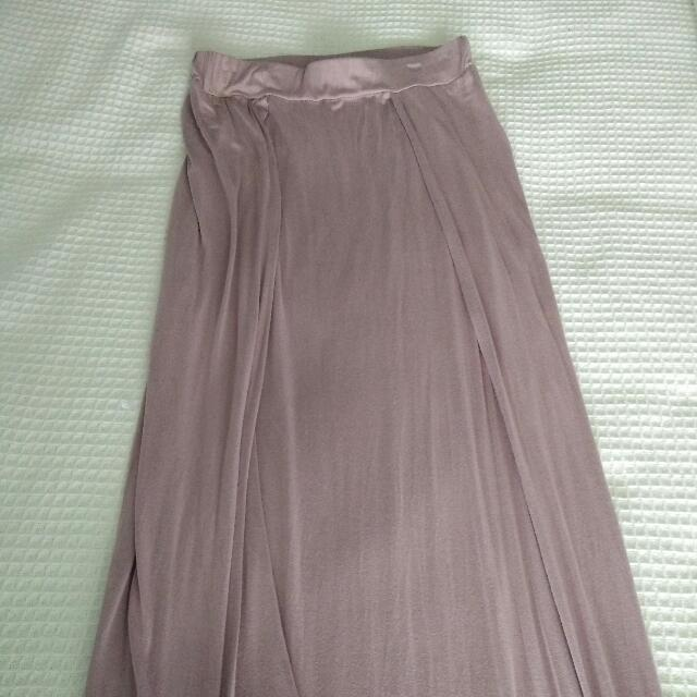 Purple Maxi Skirt From Boohoo