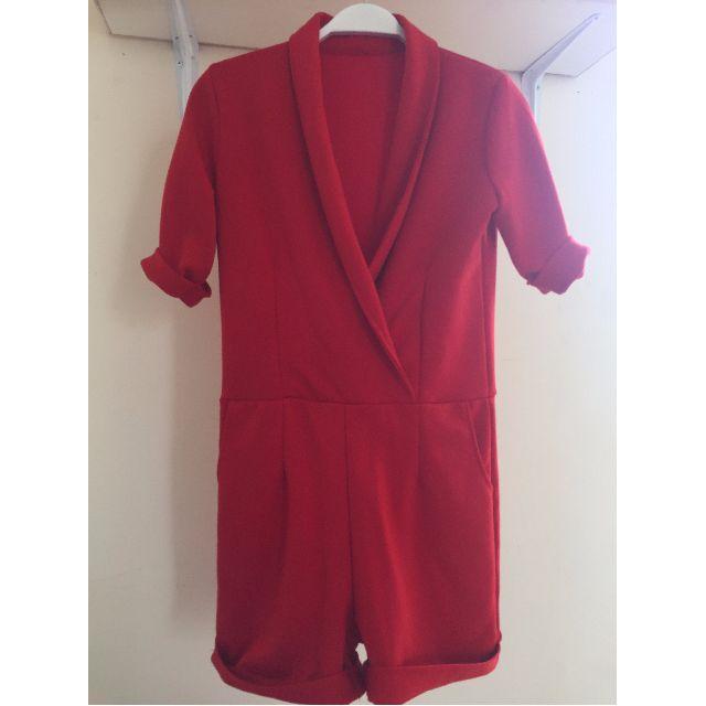 red jumpsuit pants