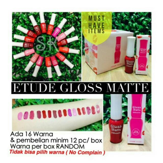 SALE !!!!  ETUDE HOUSE GLOSS MATTE LIP CREAM