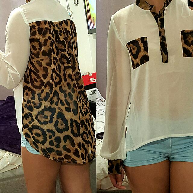 Sheer Long Sleeve Shirt  Size 8