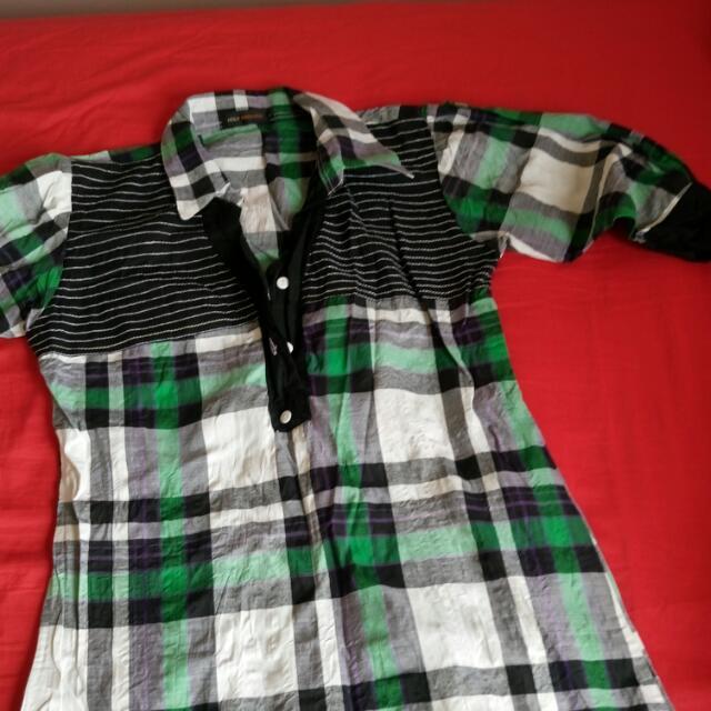 Size 8 Shirt Dress Checkered