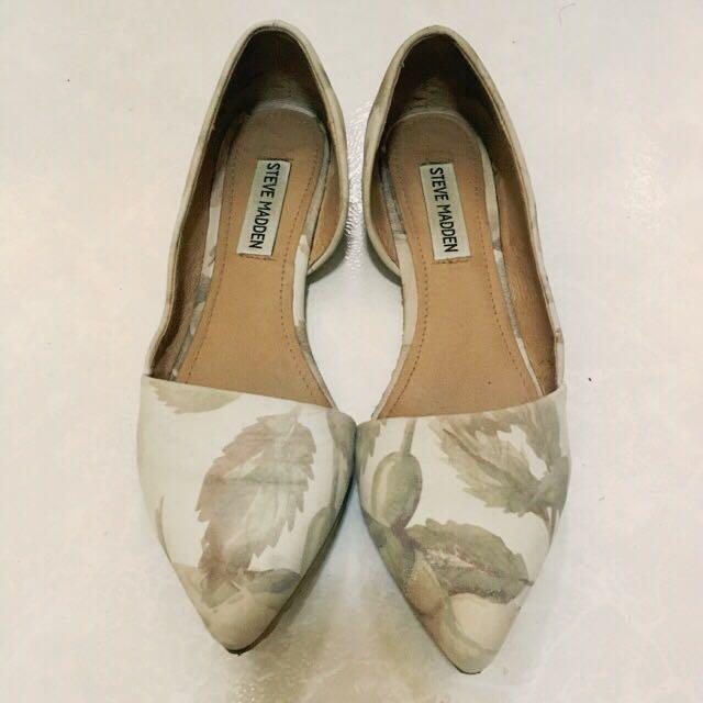 Steve Madden印花尖頭平底鞋