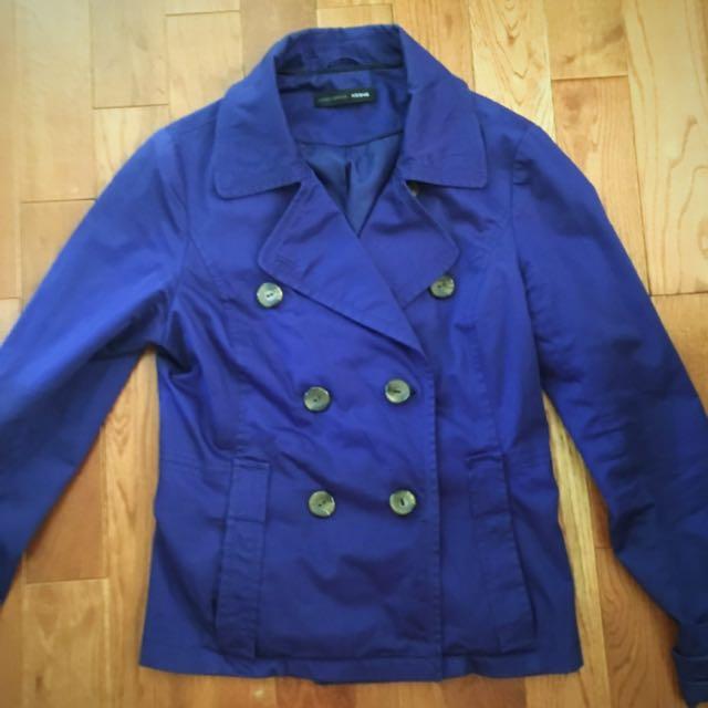Vero Moda Blue Short Trench Coat (m)