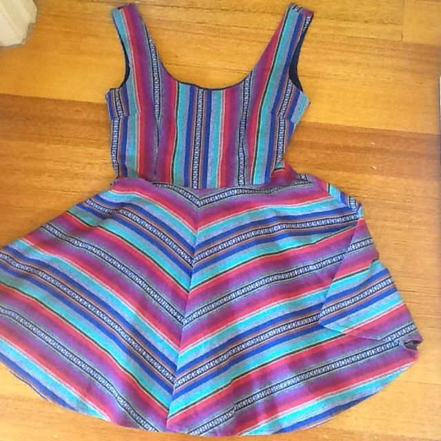 WHITE CLOSET Multicoloured Skater Dress. Size 6