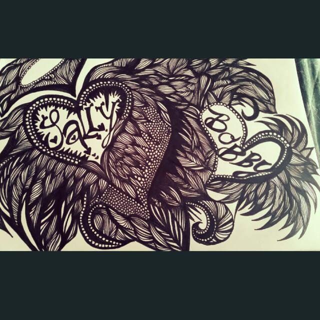 Zen Tangle This is A Sample What I Can Do Can Also Do Tattoo's Pm If You Would Like Something Done