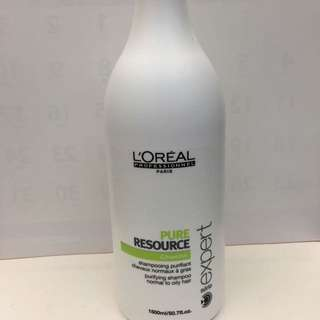 萊雅 復甦循環系統-清新油脂均衡淨髮露1500ml-深層清潔、油性頭皮專用