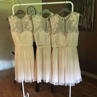 3 X Forever New Bridesmaids Dresses