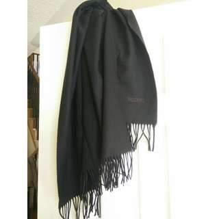 Authentic MOSCHINO lambwool Large scarf - Black
