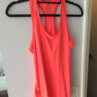 Bright pink Ladies adidas Racetrack Running Tank Size Small