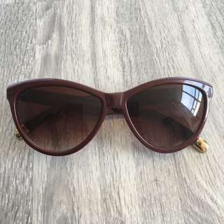 H&M Red With Gold Tips Sunglasses