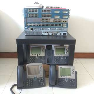 CISCO Router Switches, VOIP Phones, Wifi AP