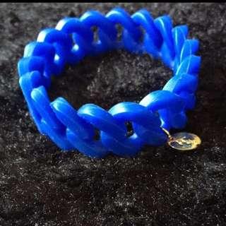 Lovisa blue rubber bracelet