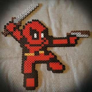 Deadpool Perler Bead