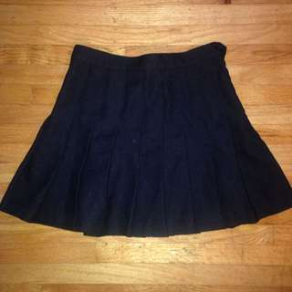 American Apparel Pleated Mini Skirt