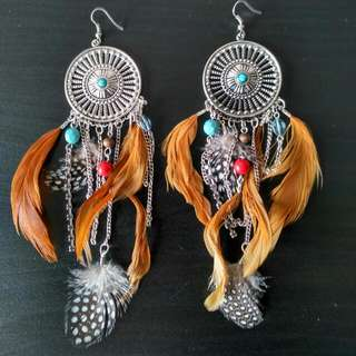 Bohemian Feather Earrings (Free Postage, Untracked)