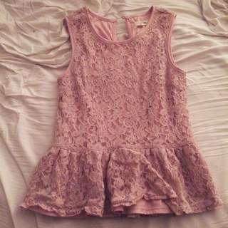 Pretty Pink Dress Top
