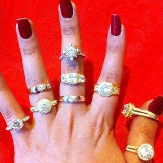 NEW Rings- LUXURY BRIDAL WEDDING ENGAGEMENT
