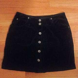 Vintage Velvet Mini Skirt