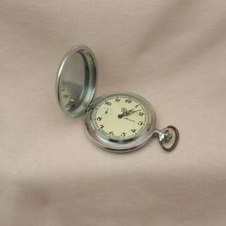 Molnija USSR Russian Authentic Silver Pocket Watch
