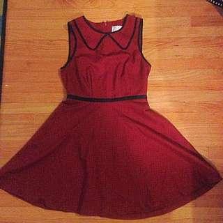 Red Polka Dot Tea Dress