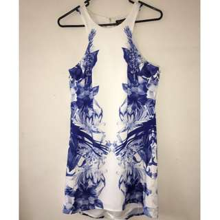 Blue and White Formal Dress